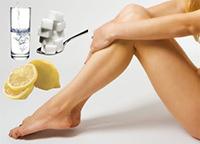 Ноги и ингридиенты для шугаринга